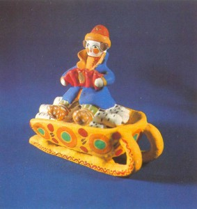 Figurine of Yemelia in the sledge