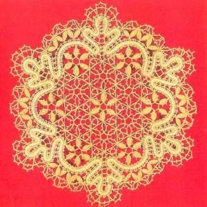 Bobbin-lace serviette A Snowflake