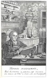 Bolotov in his study. 1789