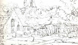 Church-yard in Windsor. Illustration to Thomas Grey's
