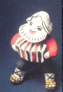Figurine of an accordion-player