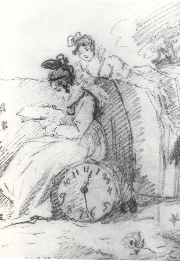 culture s ponomaryova with her dame de compagnie 1818. Black Bedroom Furniture Sets. Home Design Ideas