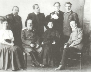 producing director N.N. Zvantsen is second from left (1917).