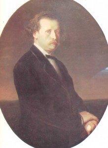 The portrait painted by V.G. Perov