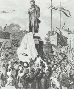 The opening ceremony of A.S. Pushkin Monument.