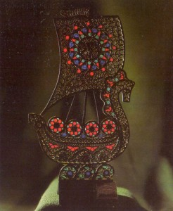 Filigree metal ornamental composition, The Volga Ladle