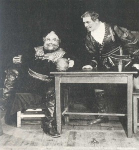 Scene from the performance of O. Nicolai`s opera
