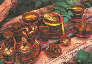 Painted by T.Belyantseva, designed by N. Salnikova. Semyonov. 1977.