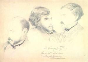 V. Botkin. I. Turgenev and A. Druzhinin