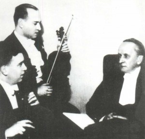 """after playing the trio """"In Memory of the Great Artist"""" by P.I. Tchaikovsky"""