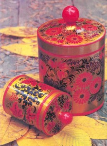 Lathe - turned wood with herbal design.