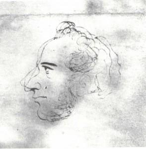 I. Turgenev (1818-1883) Male portrait.