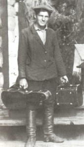 S.P. Titov (father of cosmonaut G.S. Titov) before leaving for Moscow to study at the Workers