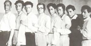 K.N. Igumnov together with his pupils. N.G. Igumanov, G.D. Bublikov, T.S. Levit, K.S. Sorokin, Ya. I. Milstein, A.L. Joheles, Ya.V. FLiere, T.L. Logovinsky (1930).