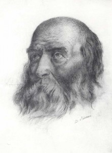 D. Mamin-Sibiryak Portrait of an old man. 1901