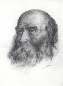 D. Mamin-Sibiryak Portrait of an old man. 1901