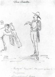 Self-caricature Don Leonid