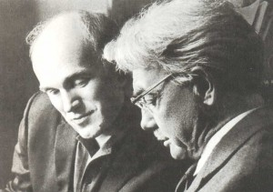 H.G. Neuhaus with his pupil Emil Grigoryevich Gilels (1916-1985), pianist, pedagogue, People`s Artist of the USSR,