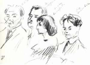 N. Klyuev.M. Lozinsky, A. Akhmatova