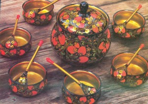Painted by L. Polyashova, designed by Ye. Dospalova. Semyonov. 1977.