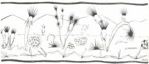 Mexican landscape wilh cacli. 1925