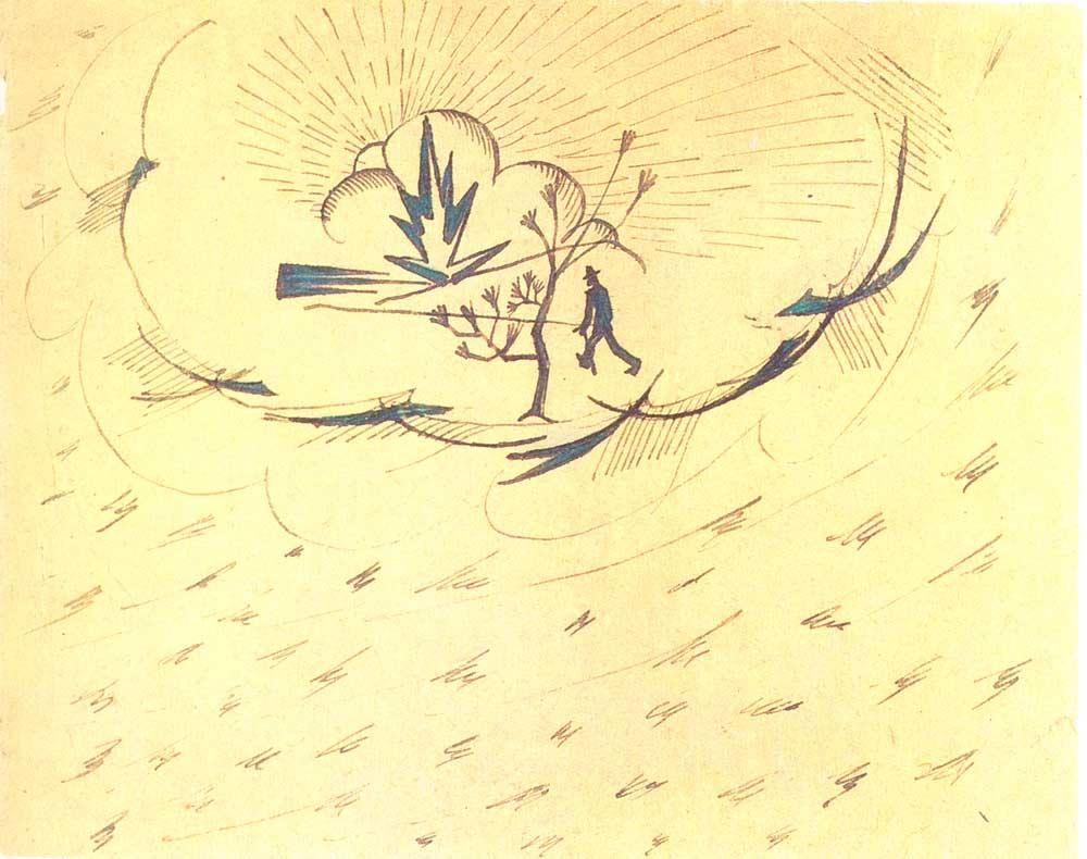 Line Drawing Setting Sun : Culture mayakovsky s last drawing man following the