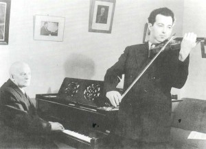 Abram Ilich Yampolsky (1890-1965), violinist. Teacher of violin (1922-1956, since 1926 - professor). Meried Art Worker of the RSFSR. With his pupil Yulian Grigoryevich Sitkovetsky (1925-1958), winner of international competitions