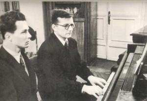 Dmitrry Dmitriyevich Shostakovich (1906-1975), composer, pianist.