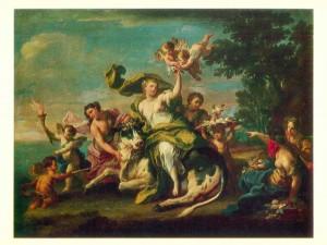 Sebastiano Conca. The Rape of Europa