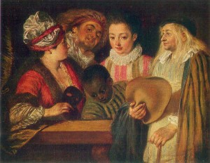 Antoine Watteau,  Actors of the Comedie – Francaise.