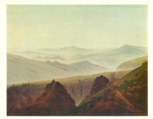 Caspar David Friedrich, Morning in the Hills
