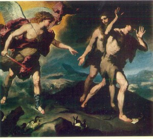 Luca Giordano. Expulsion from Paradise