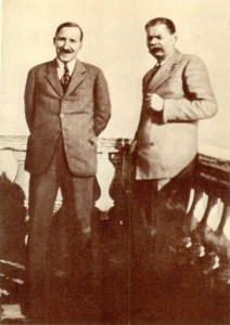 A.M. Gorki and Stefan Zweig. Sorrento. 1930