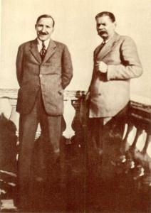 A.M. Gorki and Stefan Zweig. Sorrento. 1930