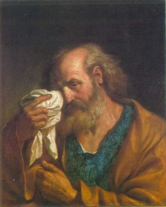 Guercino    (Giovanni   Francesco   Barbieri). 1591 — 1666. Italy. Saint Peter. Oil on canvas. 64X53.2 cm