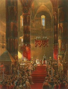in the Dormition Cathedral of the Moscow Kremlin