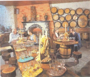 Ukrainian wines are tasted in this room