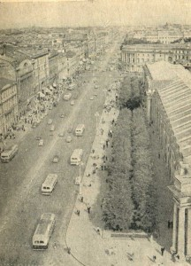 The old Nevsky Prospect, old photo