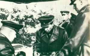 G. K. Zhukov P. I. Batov  К. К. Rokossovsky