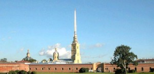 """197046 St. Petersburg, Peter and Paul Fortress, 3 Directions: Art.m. """"Gorky"""", """"Sports"""""""