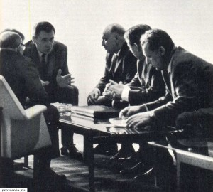 Communist country representatives in a UN lounge