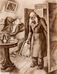 """Oblomov"". Illustration N. Shcheglov"
