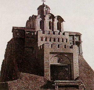 Golden Gate in Kiev, built in Yaroslavl the Wise. XI century