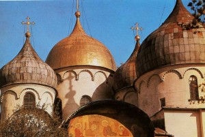 Head of St. Sophia Cathedral in Novgorod. 1045-1050 years.