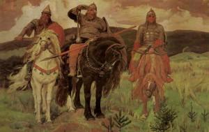Bogatyri.Hudozhnik Vasnetsov. 1898