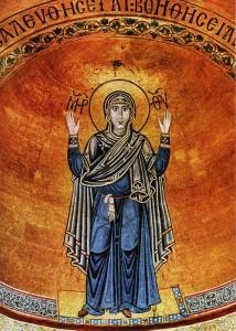 Mosaic in the apse of St. Sophia.