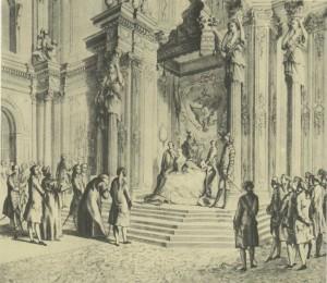 Engraving. XVIII century.