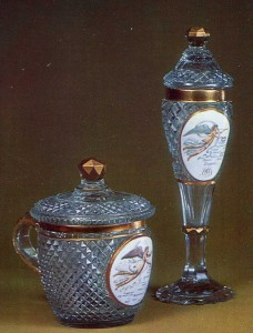 Lidded cup and goblet with a representation of Nike over the map of Europe 1810s