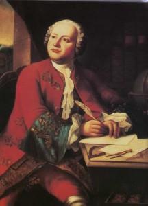 Mikhail Lomonosov. Unknown Artist. XVIII century.