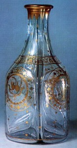 Late 1700s or early 1800s Colourless glass with gilded decoration St. Petersburg Imperial Glass Factory History Museum, Moscow